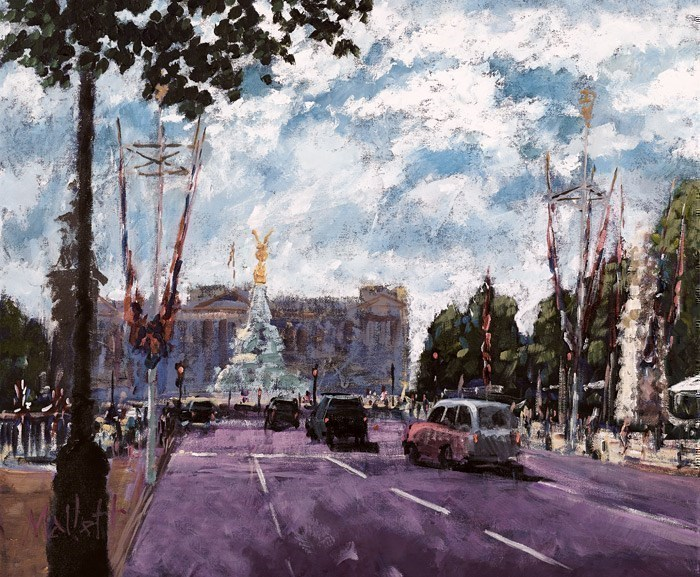 Celebrating on the Mall by Timmy Mallett - Hand Finished Limited Edition on Canvas sized 20x17 inches. Available from Whitewall Galleries